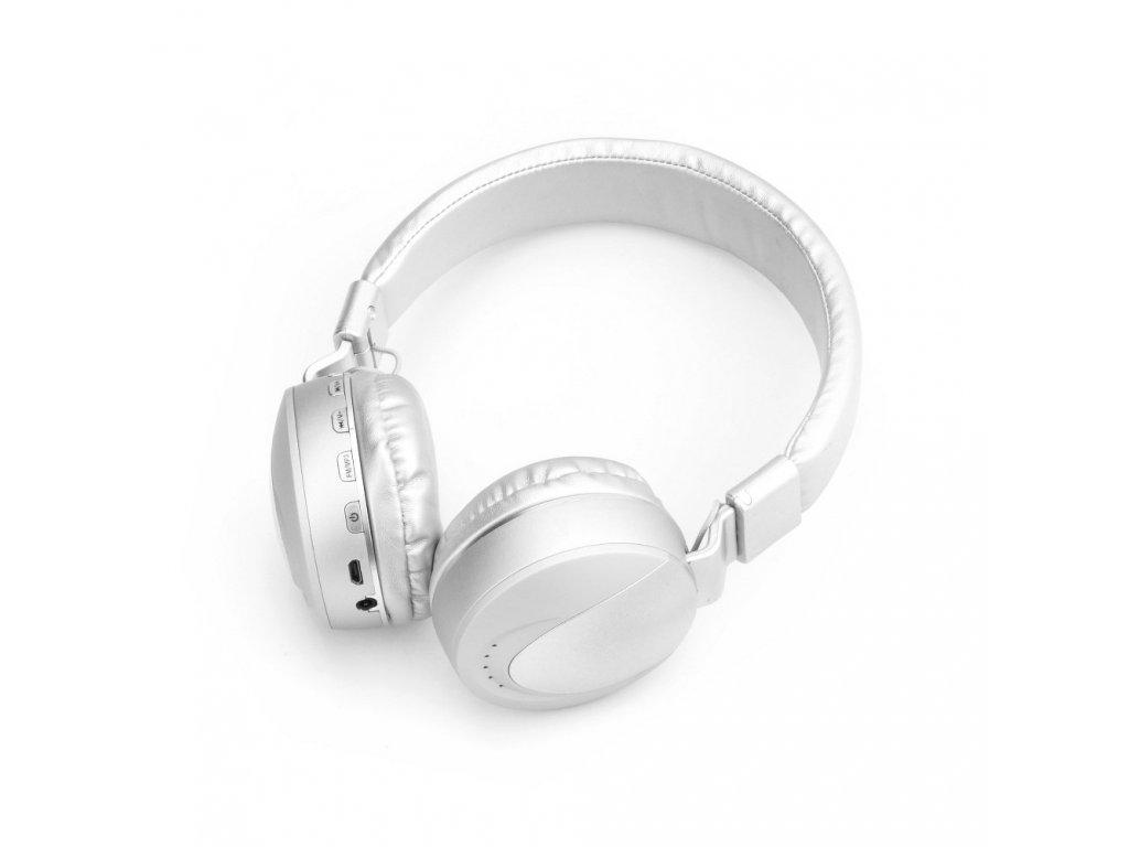 Stereo Bluetooth sluchátka s mikrofonem MS-K9 stříbrné
