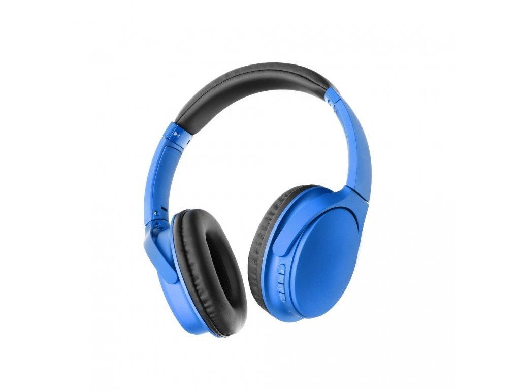 Stereo Bluetooth sluchátka s mikrofonem MS-K10 modré