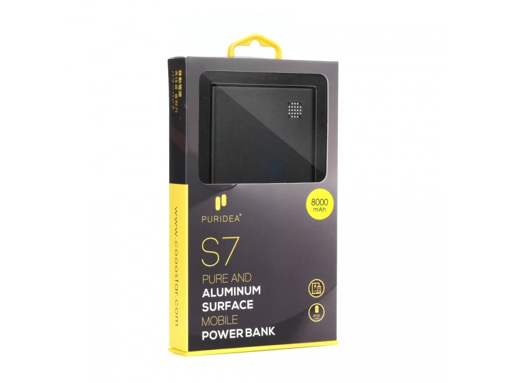 Power Bank PURIDEA S7 5000mAh šedá