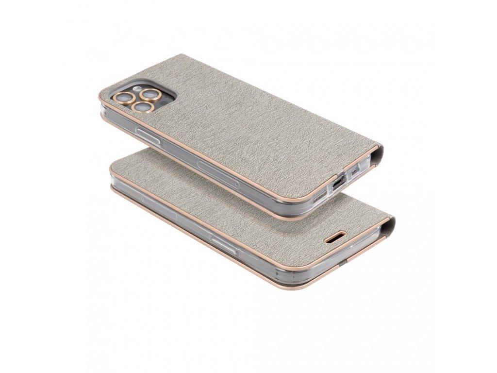 Pouzdro Forcell Luna Book Samsung Galaxy S10 Plus stříbrné