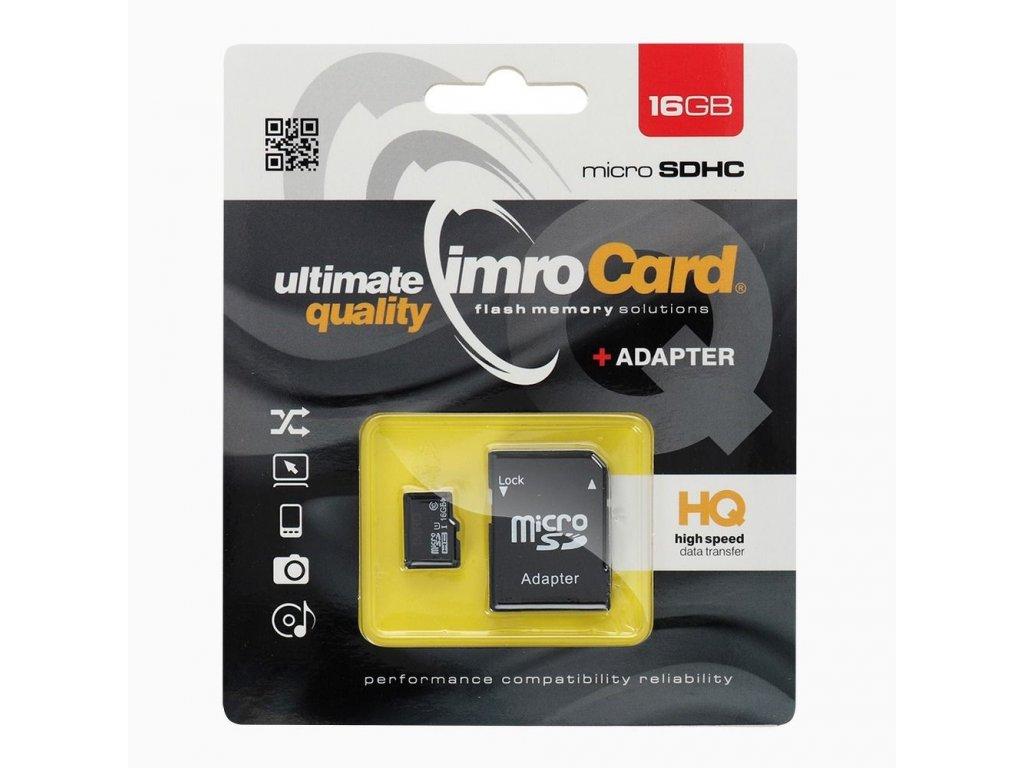 Paměťová karta IMRO 16GB microSDHC CLASS 10 UHS + adapter SD