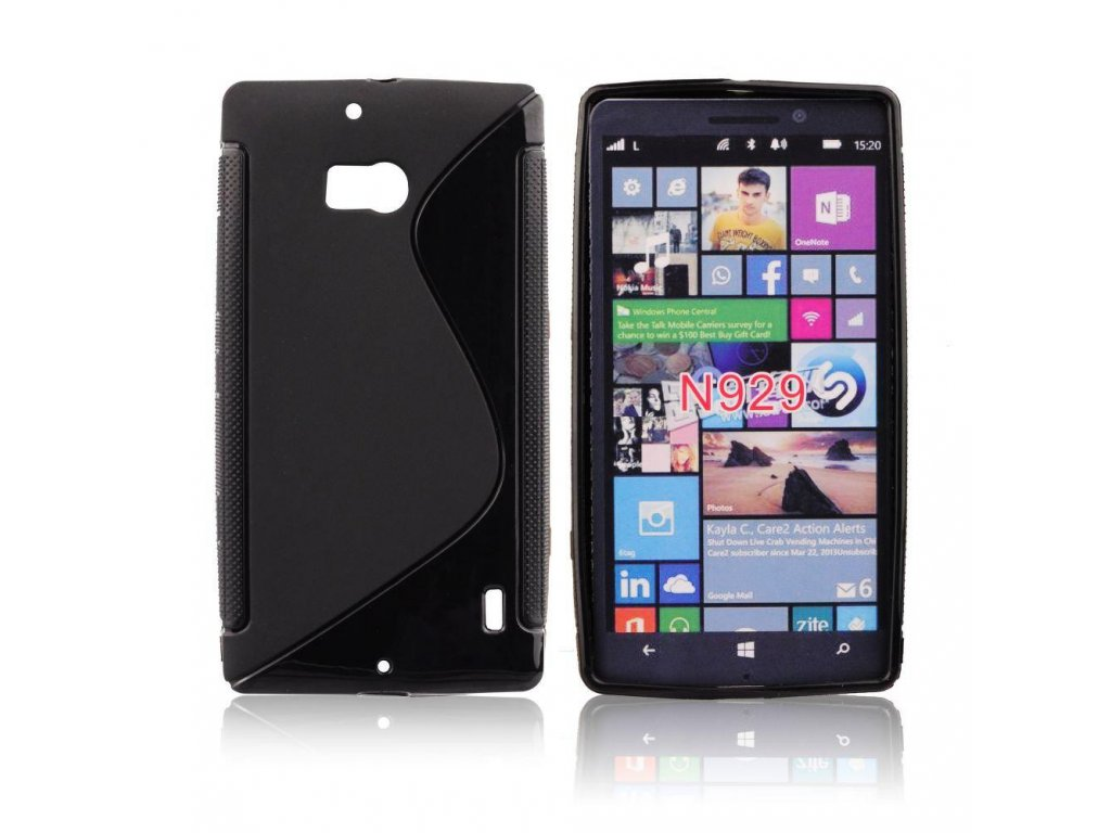 pouzdro back case lux nokia lumia 929 cerne vzor s w1200 cfff