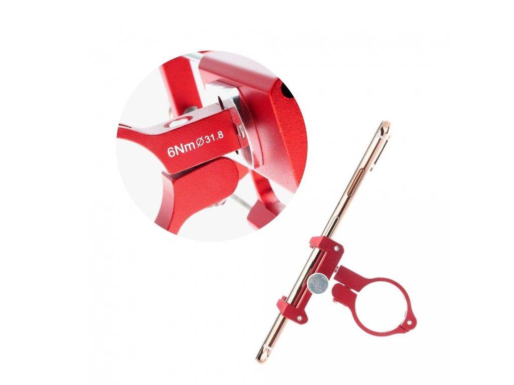Držák na kolo Metal pro mobilní telefon - červený