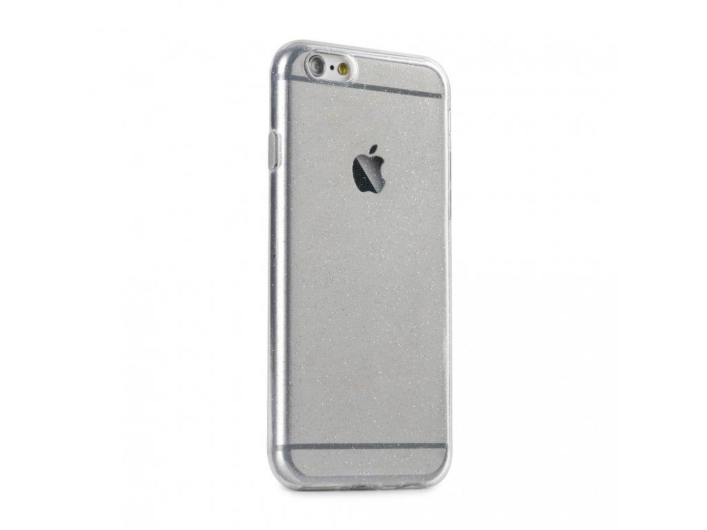 Pouzdro Back Case Ultra Slim 0,5 mm GLITTER Apple Iphone 6 / 6S transparentníní