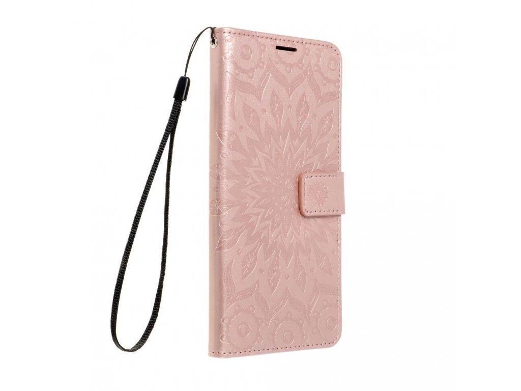 Pouzdro Forcell MEZZO Book XIAOMI Redmi 9C / 9C NFC mandala zlato růžové