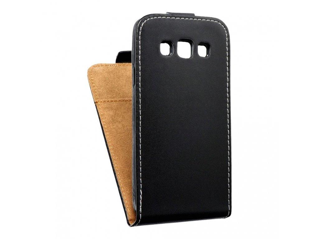 Forcell pouzdro Slim Flip Flexi FRESH Samsung A300F Galaxy A3 černé vertikální