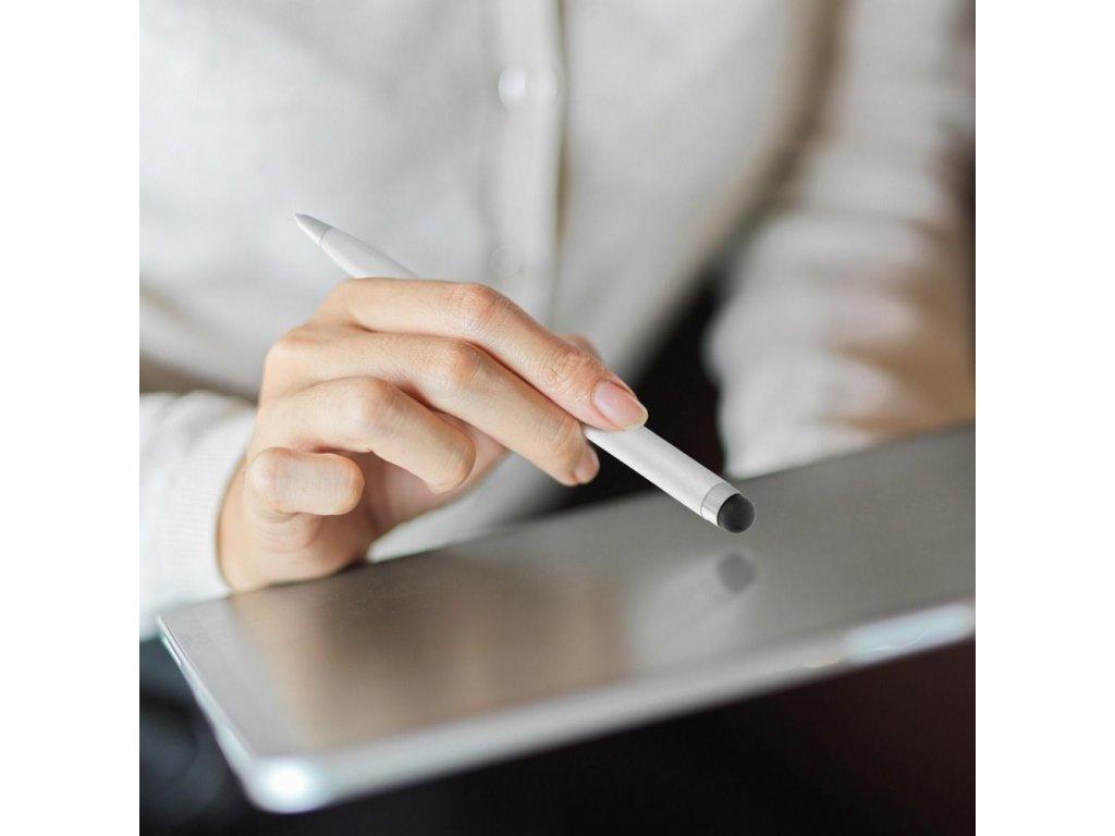 Stylus pro kapacitní dotyky s kuličkovým perem - Silver
