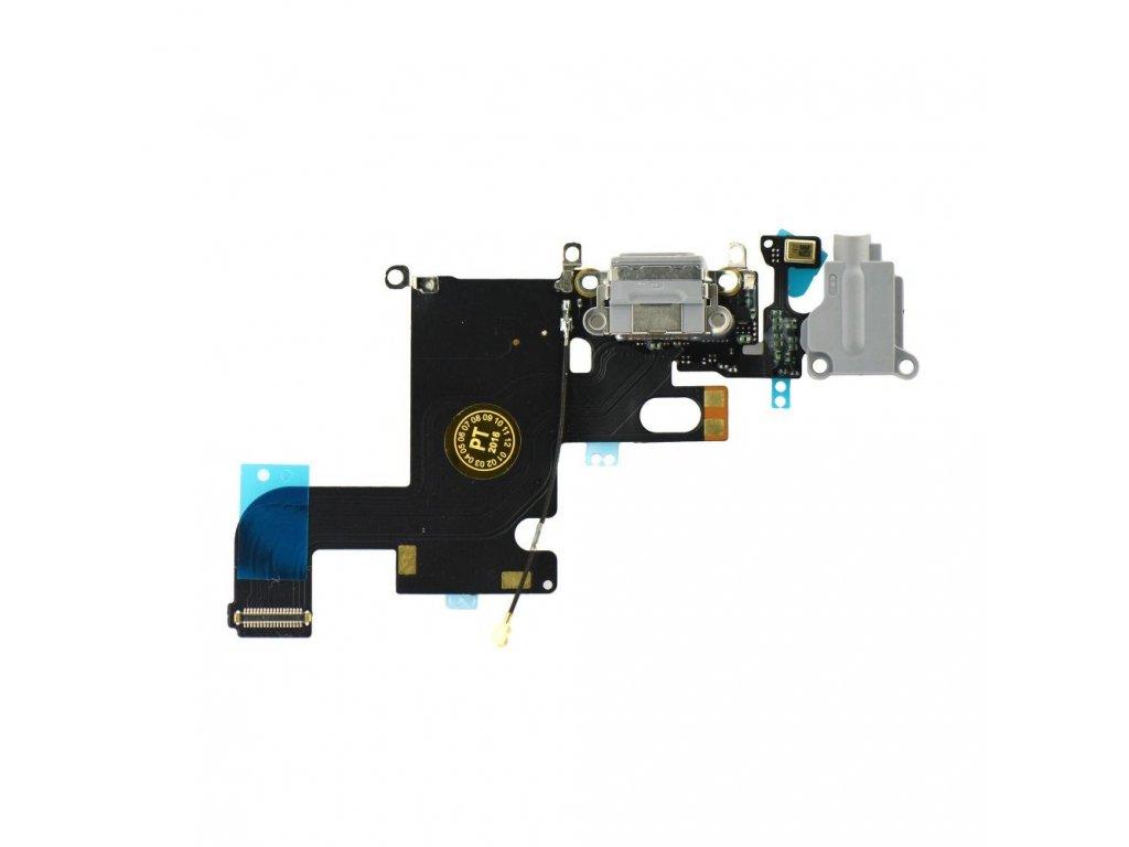 """Flex kabel konektoru nabíjení iPhone 6 (4.7"""") +HF+mikrofon - šedá"""