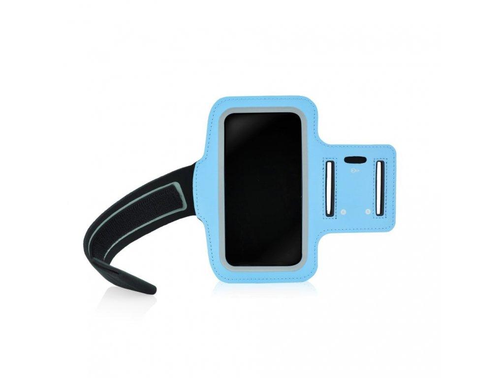 Univerzální sportovní pouzdro na ruku Forcell - rozměr iPhone 5 - modré