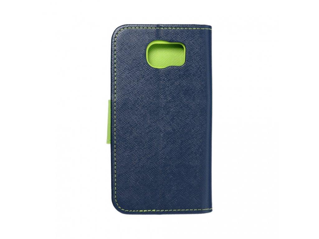 Fancy pouzdro Book - Samsung G920F Galaxy S6- modré/limetkové