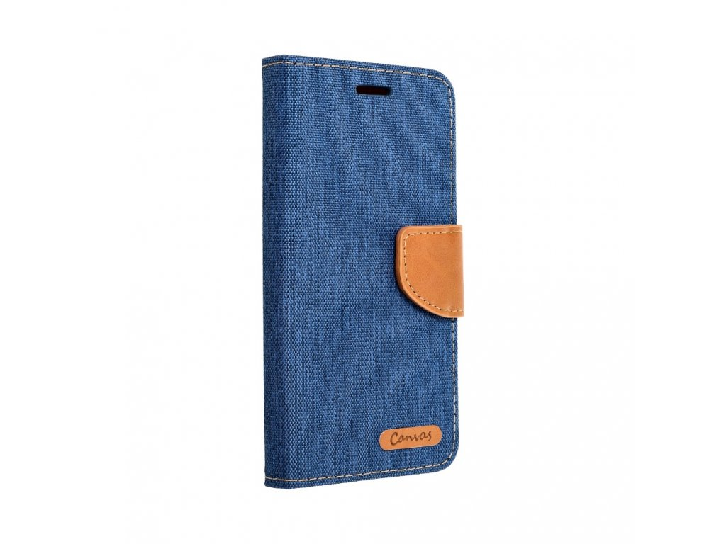 Pouzdro Canvas Mercury Book - Huawei P8 Lite - modré