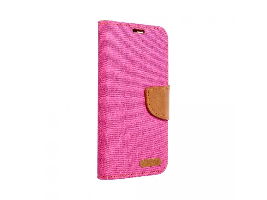 Pouzdro Canvas Mercury Book - Huawei P8 Lite - růžové