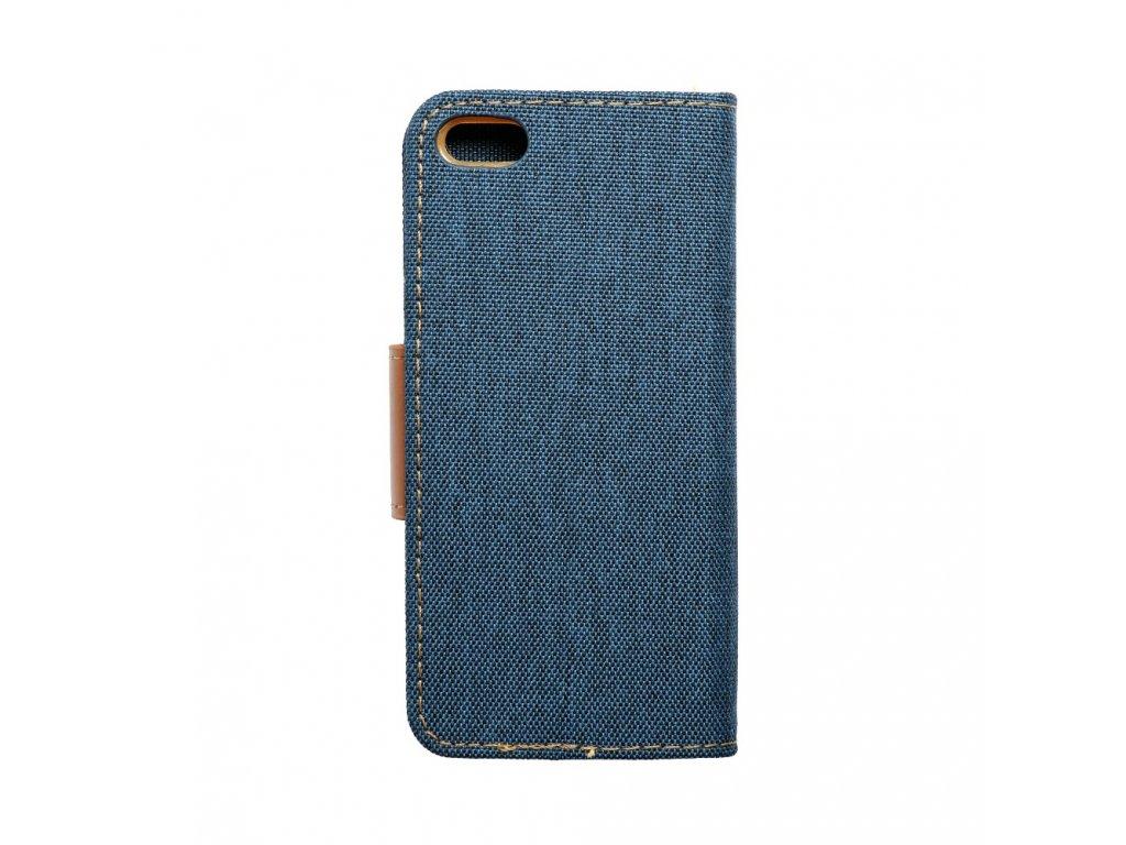 Pouzdro Canvas Mercury Book - Apple iPhone 5/5S - tmavě modré