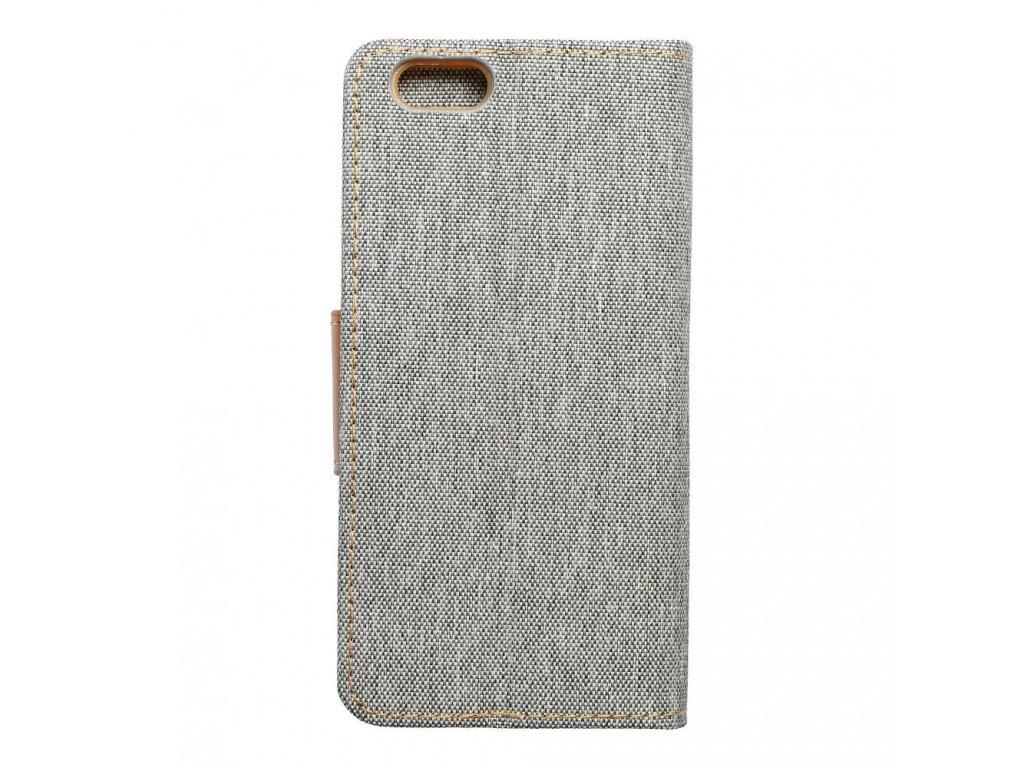 Pouzdro Canvas Mercury Book - Apple iPhone 6/6S - šedé
