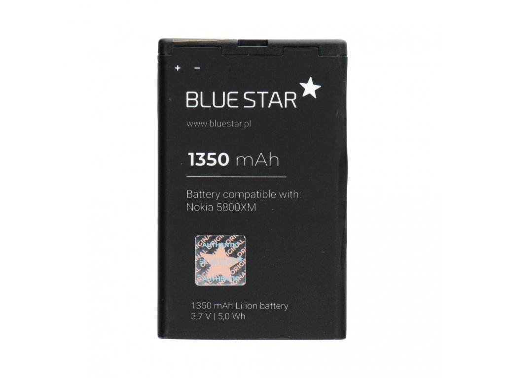 Baterie Blue Star Nokia 5800 XM, C3-00, N900, X6, 5230/BL-5J - 1350mAh (BS) Premium