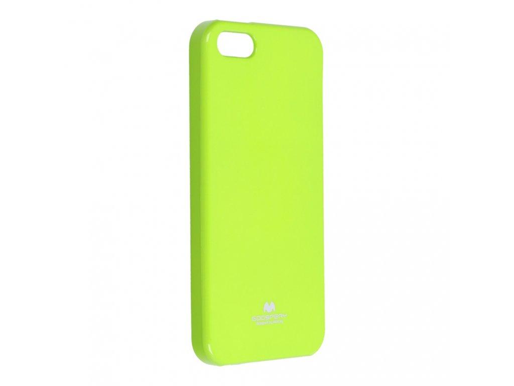 Pouzdro Goospery Mercury Jelly - Apple iPhone 5/5S - limonka
