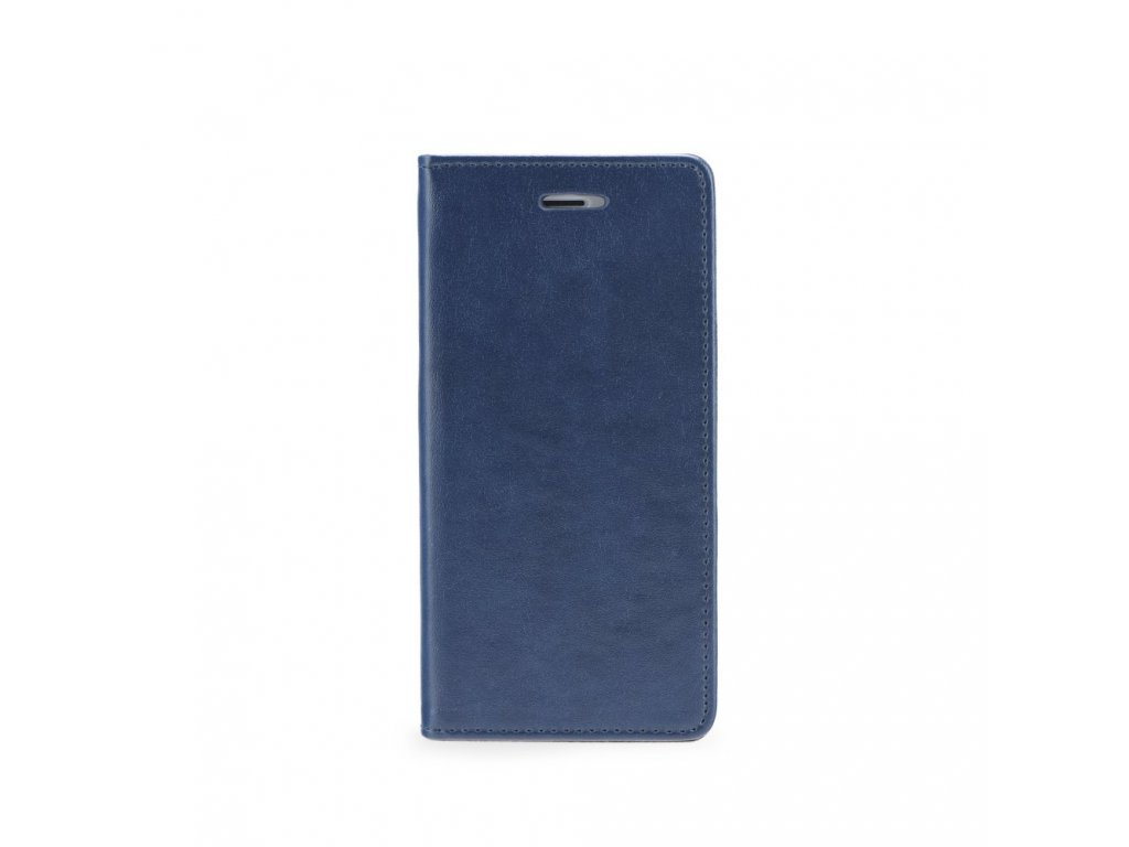 Pouzdro Magnet Flip Wallet Book LG K420N K10 - tmavě modré