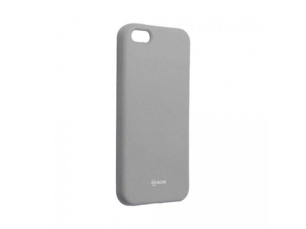 Pouzdro Roar Colorful Jelly Case Apple iPhone 5/5S - šedé