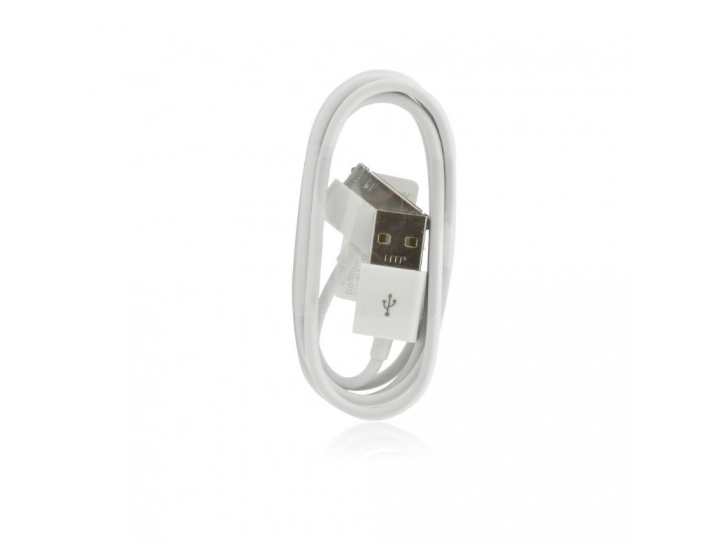 Forcell Datový kabel pro Apple iPhone 3G, 3GS, 4, 4S White / bílý