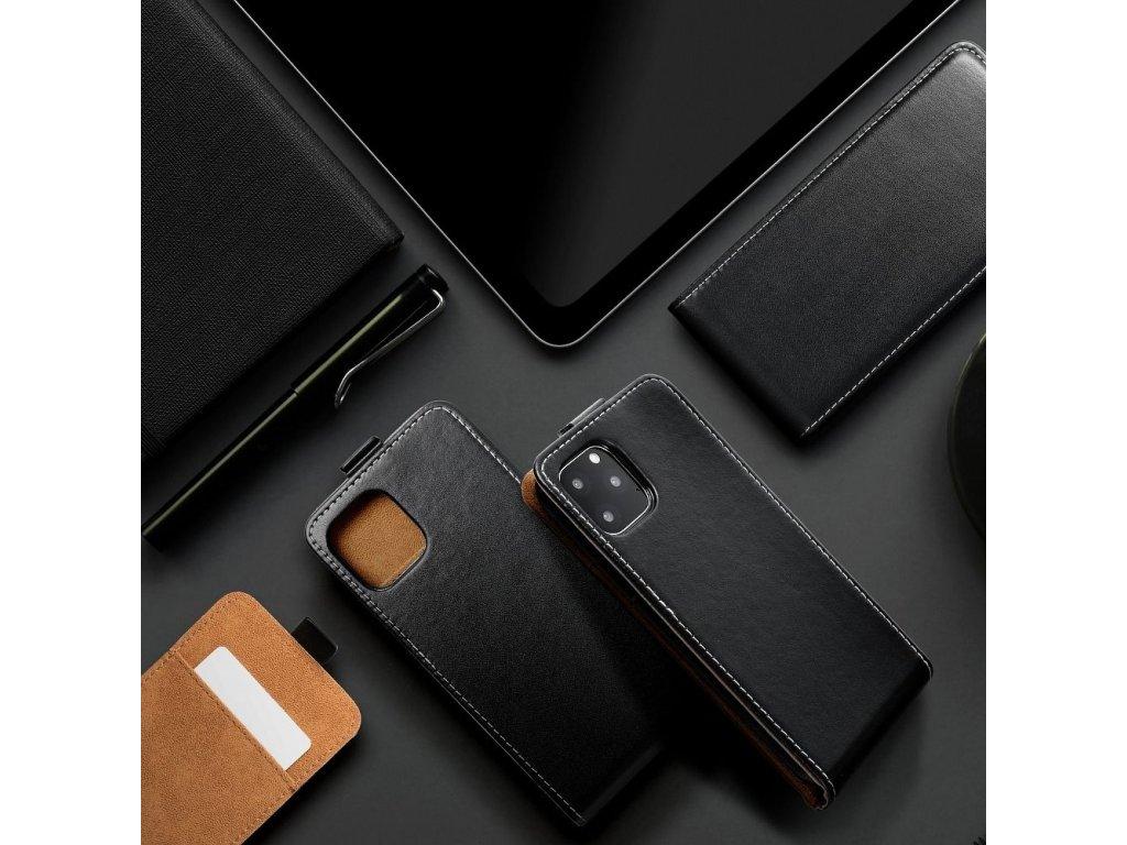 Forcell pouzdro Slim Flip Flexi FRESH pro Samsung G900 Galaxy S5 černé