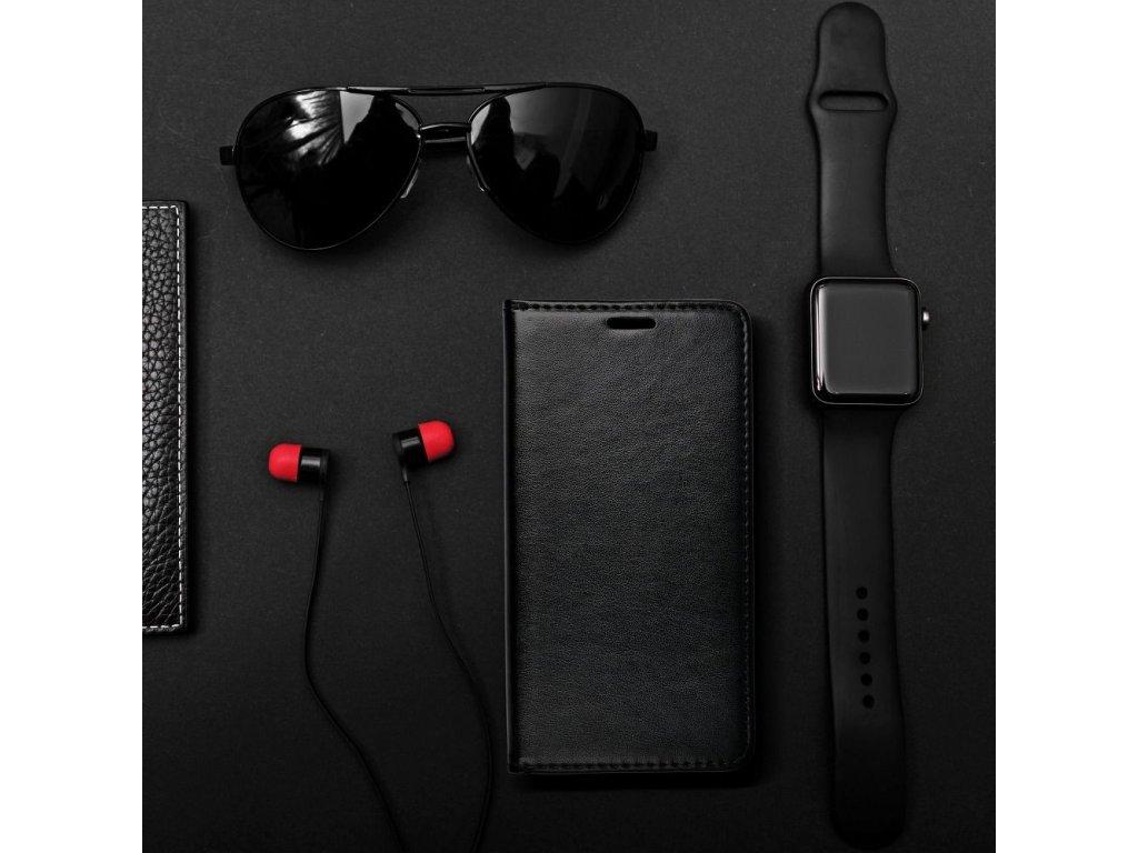 Pouzdro Magnet Flip Wallet Book Apple iPhone 5/5S - černé