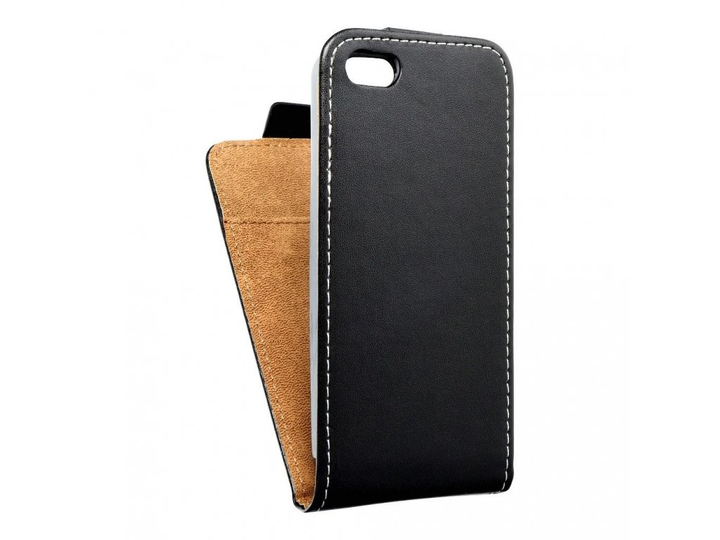 Forcell pouzdro Slim Flip Flexi FRESH pro iPhone 5/5S - černé