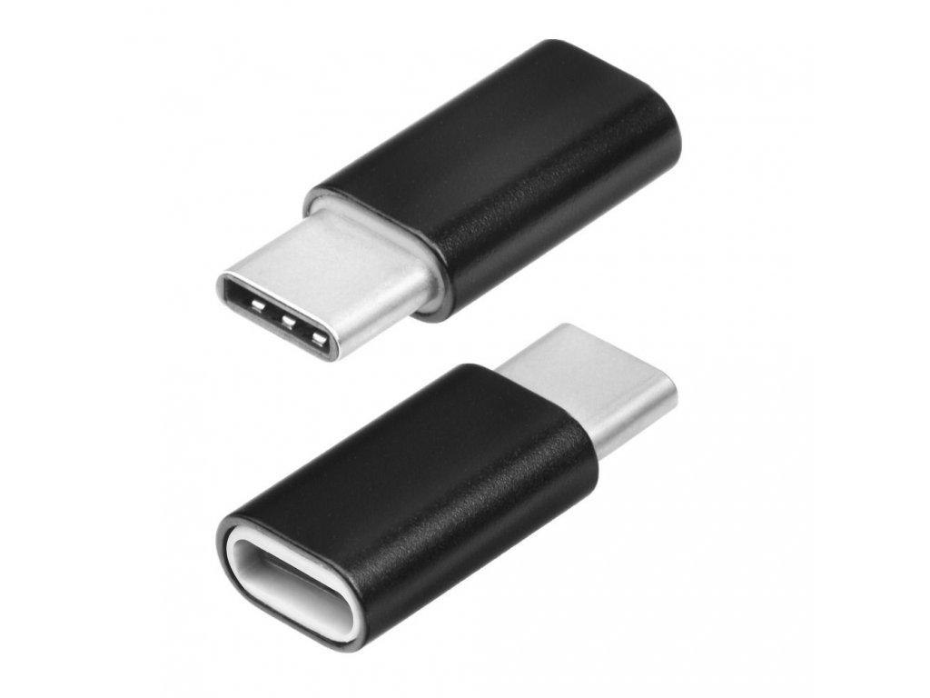Adapter Micro USB/Micro USB-C černý