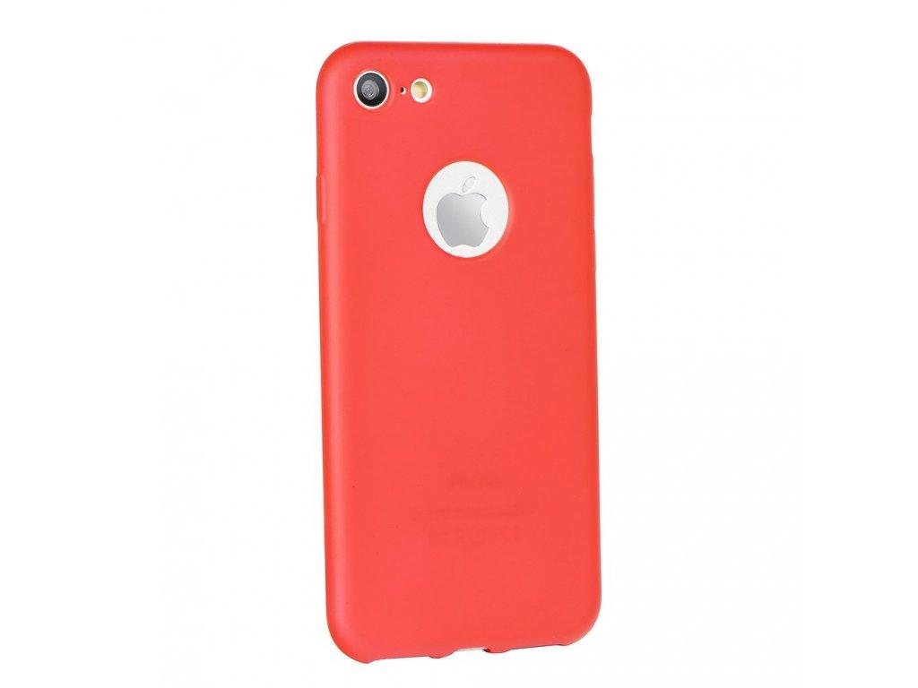 Silikonové pouzdro Jelly Case Flash Mat pro Apple iPhone 5 červené