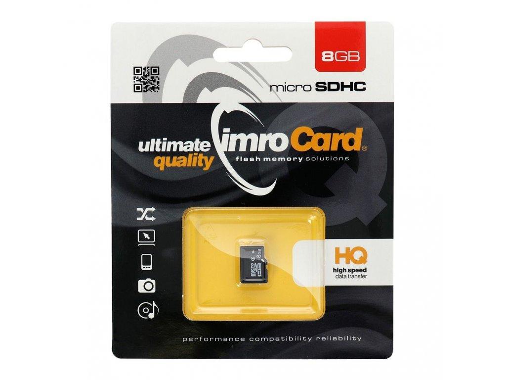 Paměťová karta IMRO microSDHC 8GB (Blister)