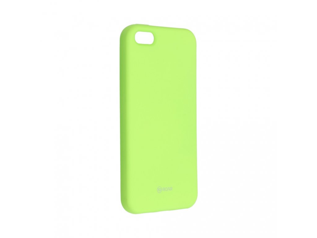 Pouzdro Roar Colorful Jelly Case - Apple iPhone 5/5S - limetkové