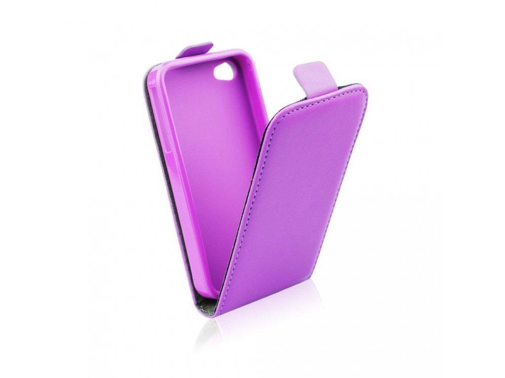 Pouzdro Forcell Slim Flip Flexi pro Apple iPhone 7 Plus fialové