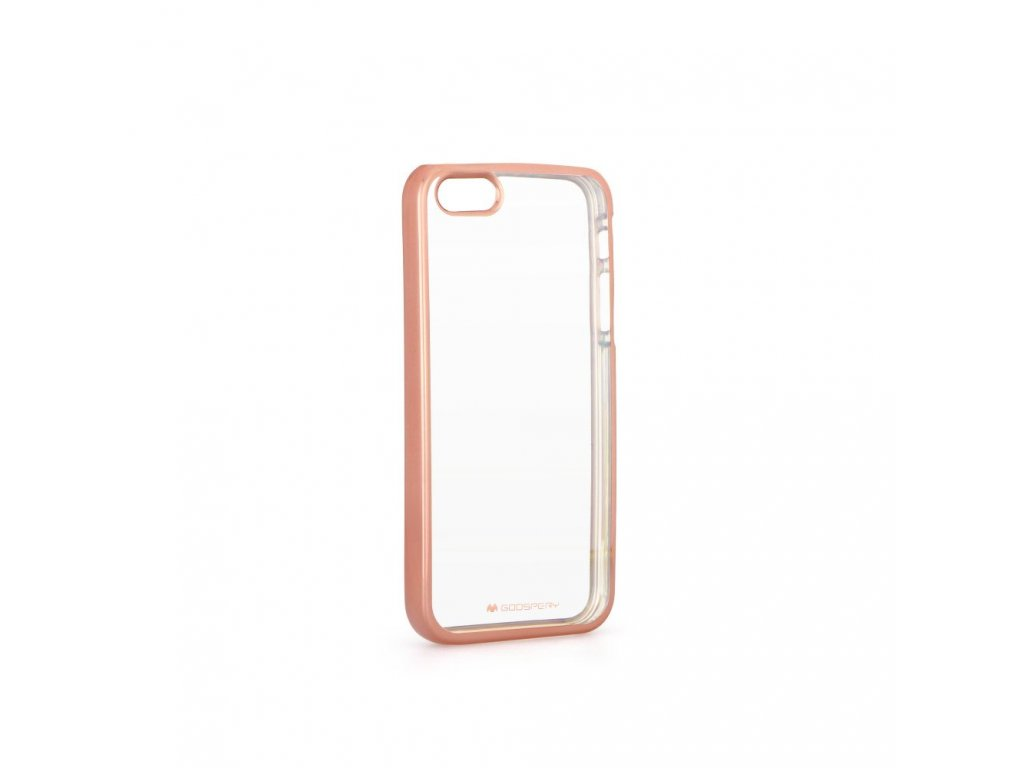 Pouzdro Mercury Jelly Ring 2 pro Apple iPhone 5/5S - zlatorůžové