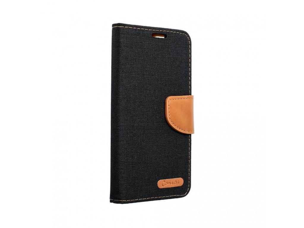 Pouzdro Canvas Mercury Book pro Apple iPhone 5/5S/SE - černé