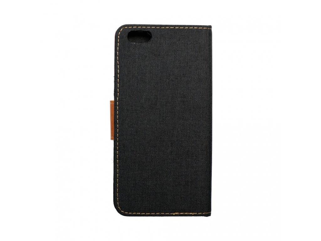 Pouzdro Canvas Mercury Book pro Apple iPhone 6/6S Plus - černé