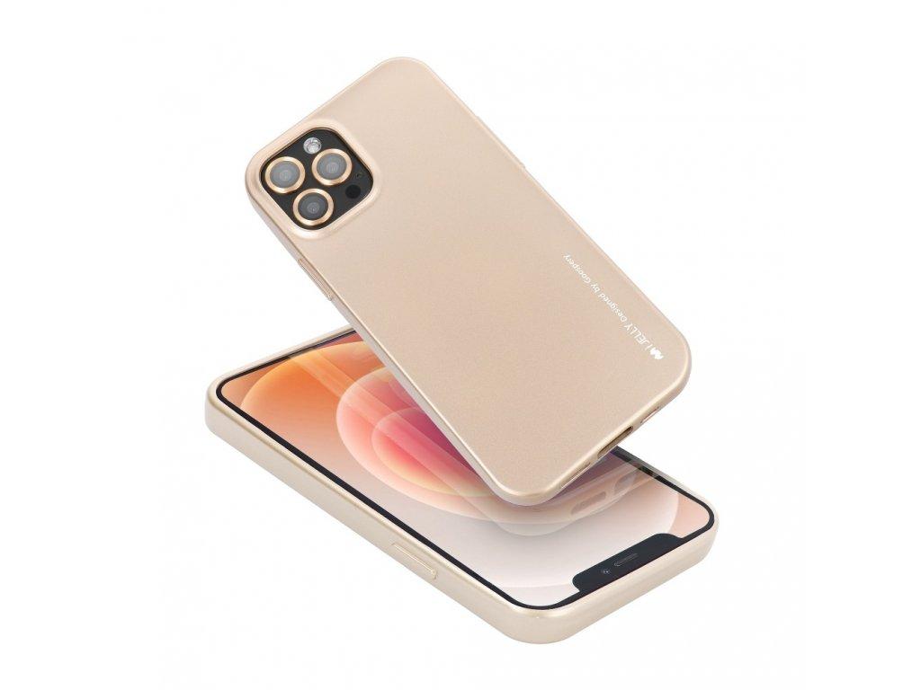 Pouzdro i-Jelly MERCURY/GOOSPERY pro Apple Iphone 7 zlaté s vyřezem na logo