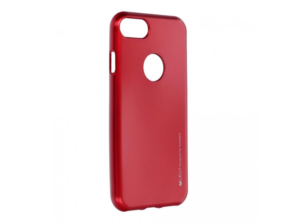 Pouzdro i-Jelly MERCURY/GOOSPERY pro Apple Iphone 7 červené s vyřezem na logo