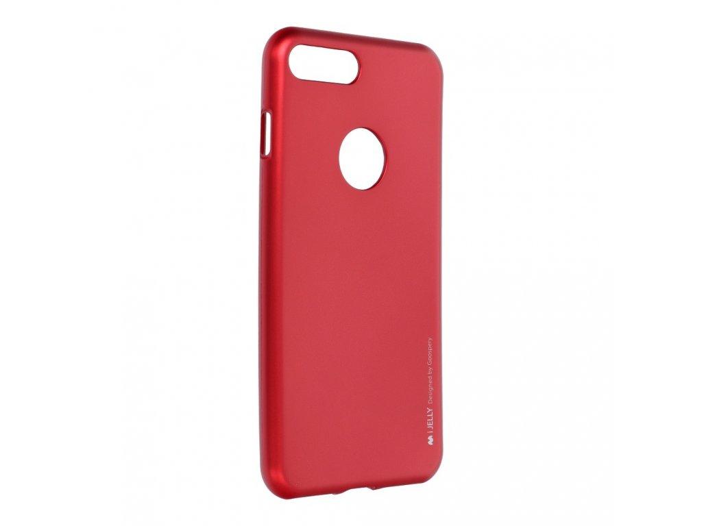Pouzdro i-Jelly MERCURY/GOOSPERY pro Apple Iphone 7 PLUS červené s vyřezem na logo