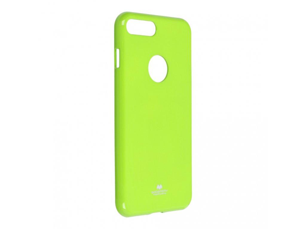 Pouzdro Goospery Mercury Jelly pro Apple Iphone 7 Plus limonka s výřezem na logo