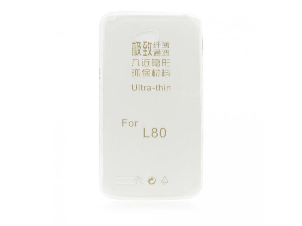 51403 1 pouzdro back case ultra slim lg l80 transparentni