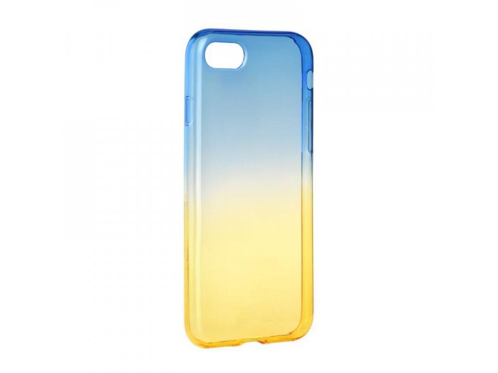 58704 pouzdro silikon forcell ombre apple iphone 6 plus modro zlate