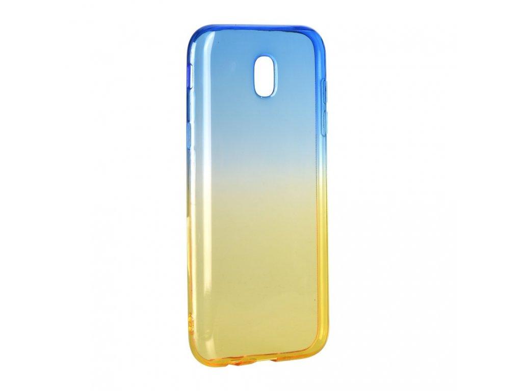 Pouzdro silikon Forcell OMBRE Samsung Galaxy J3 2017 modro-zlaté
