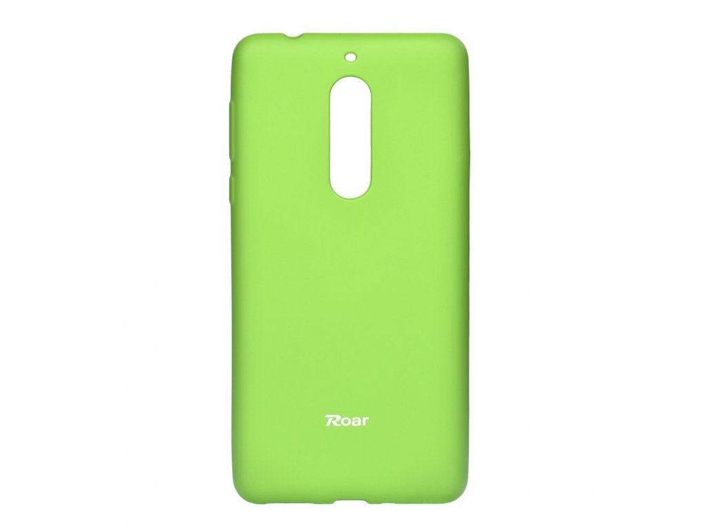 Pouzdro Roar Colorful Jelly Case Nokia 5 (2017) Limonka