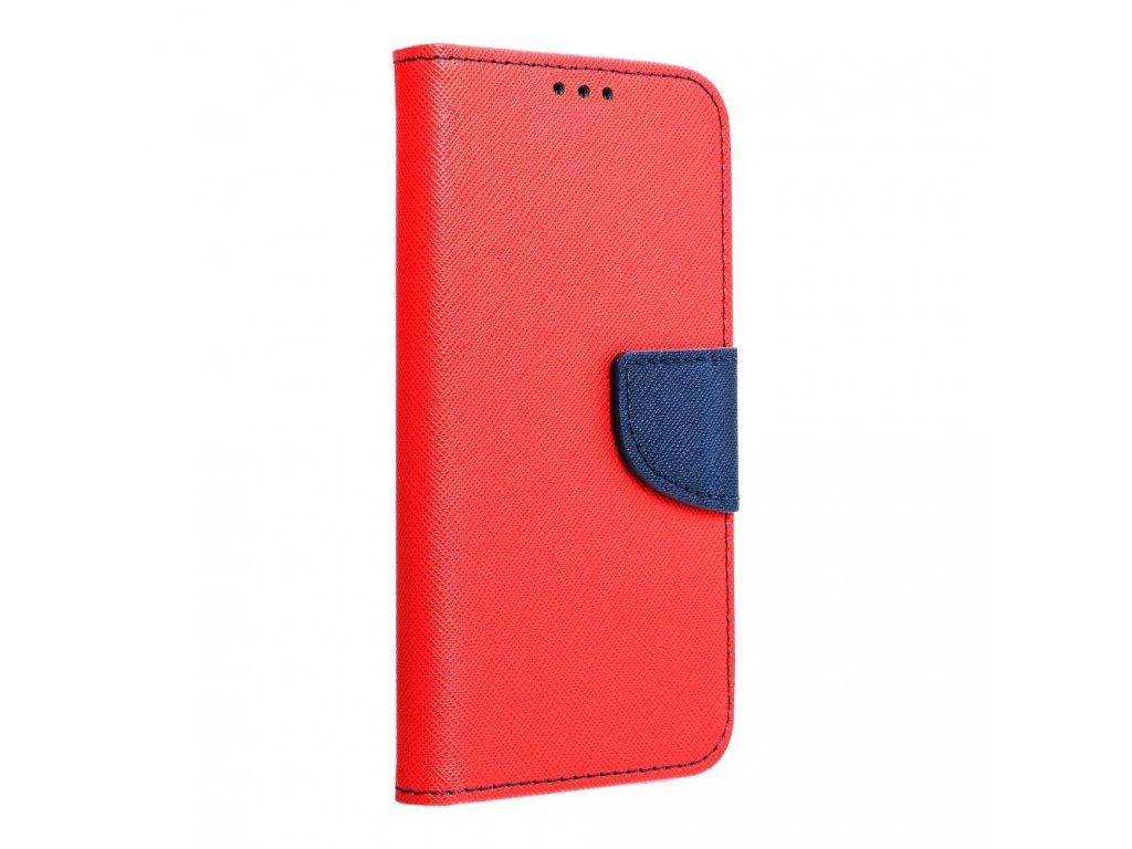 Fancy pouzdro Book - Huawei Y7 červeno/granátové