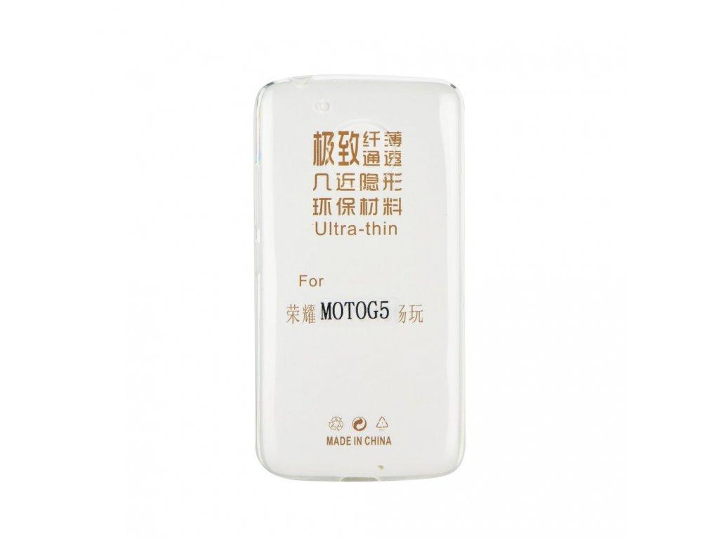 Pouzdro Back Case Ultra Slim 0,3mm - Lenovo MOTO E4 Plus transparentní