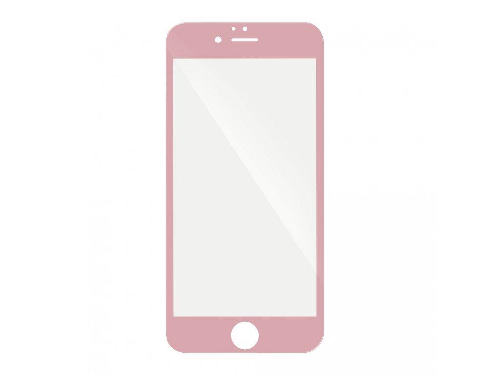 """Forcell Tvrzené sklo 5D Hybrid Full Glue Glass - Apple iPhone 6/6S 4,7"""" - růžové"""
