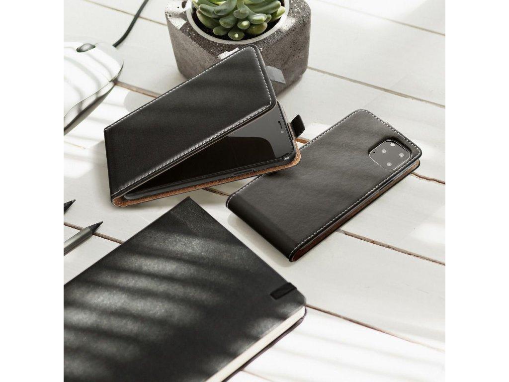 Forcell pouzdro Slim Flip Flexi FRESH pro Apple iPhone X - černé