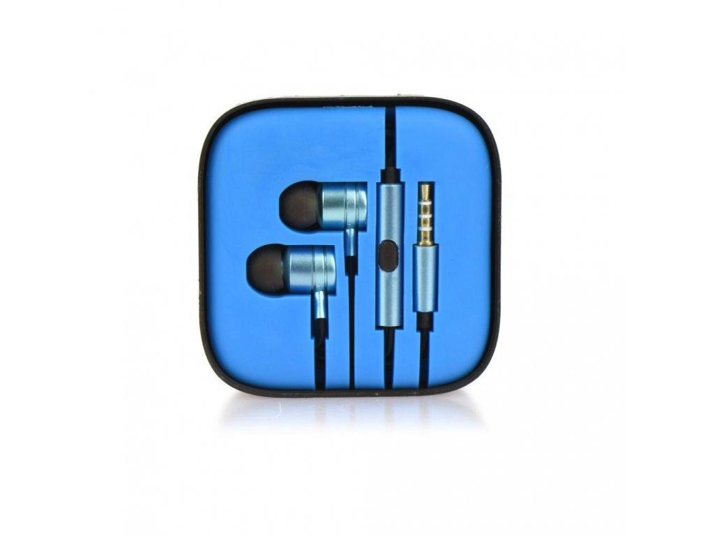 Sluchátka HF Stereo Android MI metal - 3,5mm, box - modré