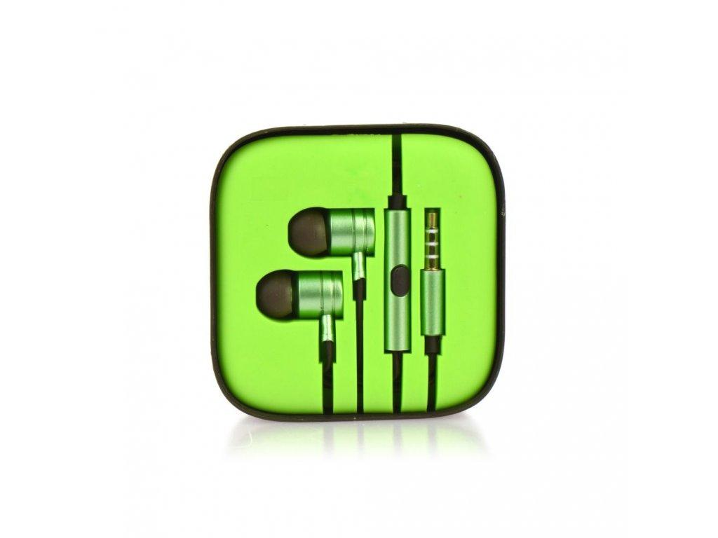 Sluchátka HF Stereo Android MI metal - 3,5mm, box - limonka