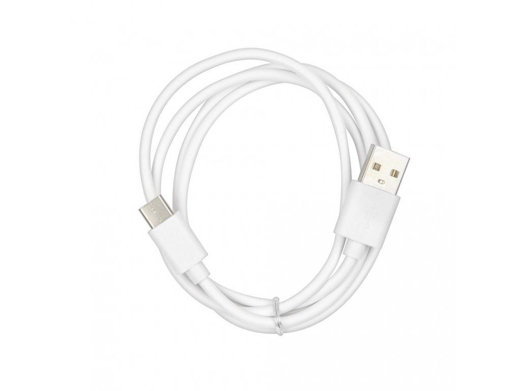 Kabel USB - microUSB TYP C/USB 2.0 - bílý