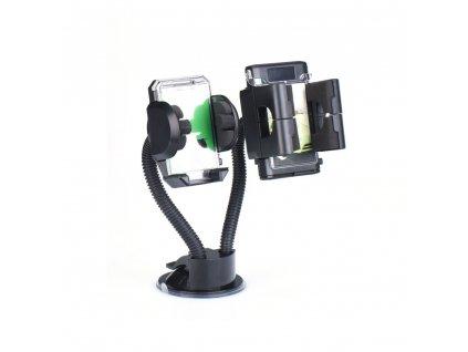 Držák do auta DOUBLE LONG ARM pro dva telefony/ navigaci/ zařízení